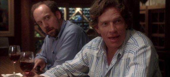 Paul Giamatti y Thomas Haden Church en un momento de «Entre copas»