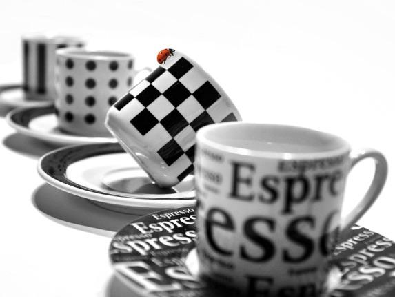 Tazas de café decoradas
